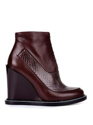 Jil Sander Frida Leather And Snakeskin Boots