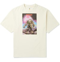 Acne Studios Monster In My Pocket Extorr Printed Cotton Jersey T Shirt Neutrals