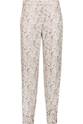 Rag And Bone Alfred Printed Silk Twill Tapered Pants Pink