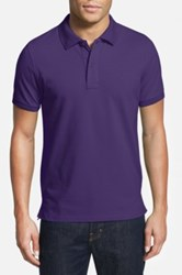 Tailorbyrd Stretch Pique Cotton Polo Big And Tall Purple