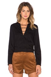 Mcguire Penelope Lace Up Shirt Black