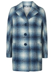 Windsmoor Soho Square Check Coat Blue