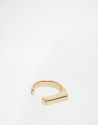Asos Signet Ring With Open Sides Gold