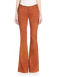 Alice Olivia Mid Rise Flared Jeans Tobacco