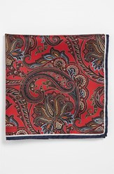 Men's J.Z. Richards Silk Pocket Square Red
