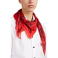 Alexander Mcqueen Cycling Skeleton Gauze Scarf Black