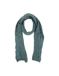 Pinko Black Oblong Scarves Green