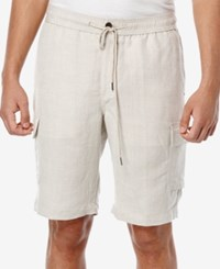 Cubavera Men's Drawstring Cargo Shorts Natural Linen
