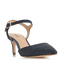 Linea Dimble Two Part Mid Heel Court Shoes Navy
