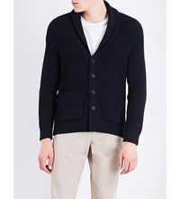 Sandro Knitted Cardigan Navy Blue