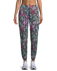 Terez Camo Printed French Terry Jogger Pants Airforce