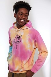 Urban Outfitters Embroidered Sad Rose Tie Dye Hoodie Sweatshirt Assorted