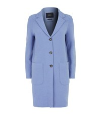 Set Double Face Wool Coat Blue