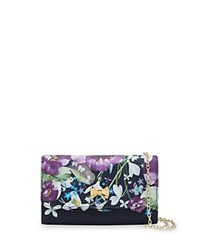 Ted Baker Entangled Bow Evening Clutch Navy Multi Gold