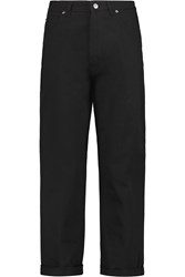 Golden Goose Cropped High Rise Straight Leg Jeans Black
