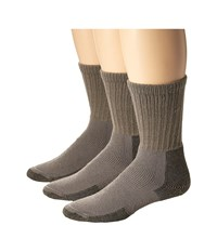 Thorlos Hiking Crew 3 Pair Pack Pewter Crew Cut Socks Shoes