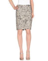 Lou Lou London Skirts Knee Length Skirts Women Beige