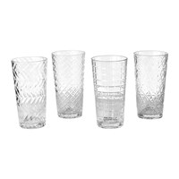 Pols Potten Clear Cuttings Long Drink Glass Set Of 4