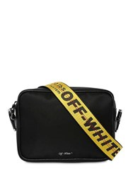Off White Nylon Crossbody Bag W Logo Webbing Black