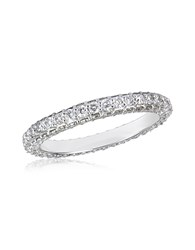 Forzieri 1.59 Ctw Diamond 18K White Gold Eternity Band