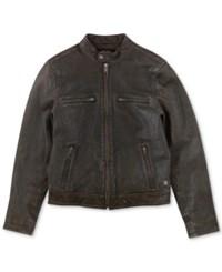 Lucky Brand Bonneville Leather Moto Jacket Black
