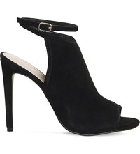Office Nate Strappy Suede Shoe Boots Black Kid Suede