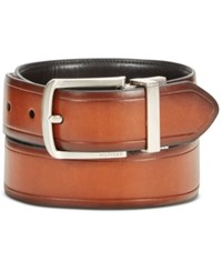 Tommy Hilfiger Men's Leather Reversible Belt Tan Black