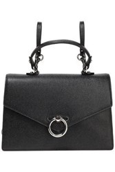 Rebecca Minkoff Woman Convertible Textured Leather Backpack Black