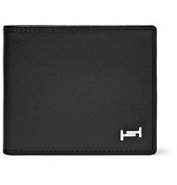 Tod's Textured Leather Billfold Wallet Black