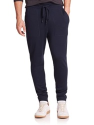 Michael Kors Look Back Merino Wool Pants Charcoal Melange Midnight