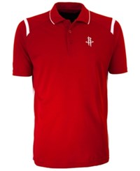 Antigua Houston Rockets Merit Polo Shirt Red