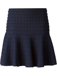 Alice Olivia Embellished Skater Skirt Blue