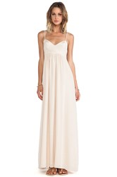 Amanda Uprichard Maxi Gown Cream