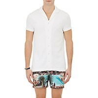 Orlebar Brown Men's Short Sleeve Travis Shirt White