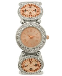 Charter Club Women's Two Tone Bracelet Watch 31Mm Created For Macy's Silver