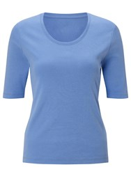 John Lewis Half Sleeve Scoop Neck T Shirt Provence Blue
