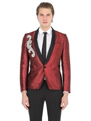 Christian Pellizzari Embellished Patch Lurex Evening Jacket