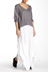 Planet Scarf Linen Skirt White