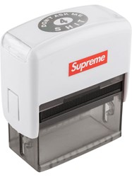Supreme Don't Ask Me For Stamp White