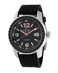 Gv2 48Mm Lucky 7 Men's Automatic Watch W Rubber Strap Black