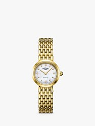 Rotary 'S Balmoral Diamond Bracelet Strap Watch Gold Mother Of Pearl Lb00900 41 D