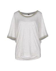 Jijil Topwear T Shirts Women Light Grey