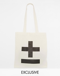 Reclaimed Vintage Cross Tote Bag Beige