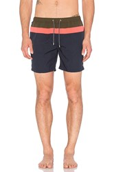 Scotch And Soda Medium Length Swimshort Navy