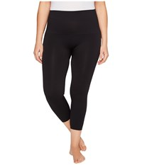 Spanx Plus Size Cropped Look At Me Now Seamless Leggings Very Black Women's Clothing
