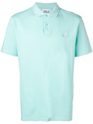 Band Of Outsiders Embroidered Logo Polo Shirt Blue
