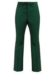 Toga Yester Wool Blend Twill Trousers Green