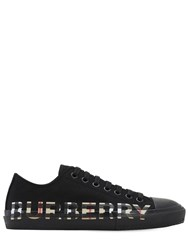 Burberry Logo Print Canvas Larkhall Low Sneakers Black