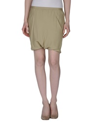 Rick Owens Mini Skirts Beige