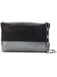 Laura B Baguette Clutch Black